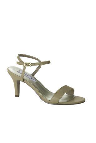 Touch Ups Beige (Simple Quarter-Strap Mid-Heel Sandals)