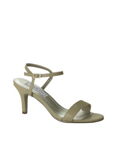 Touch Ups Beige (Simple Quarter-Strap Mid-Heel Sandals)