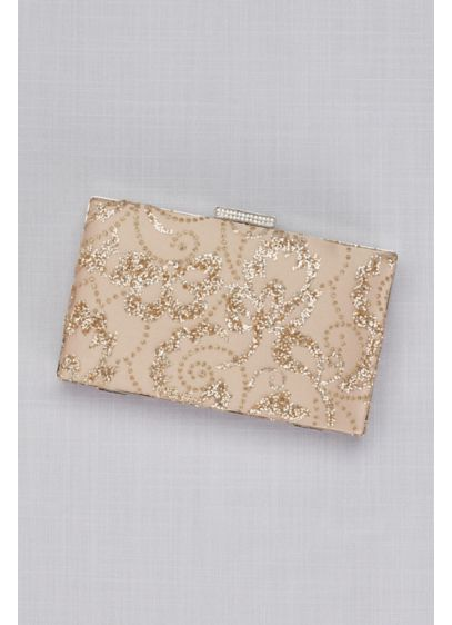 Rose Gold Glitter Leaves Minaudiere - Wedding Accessories