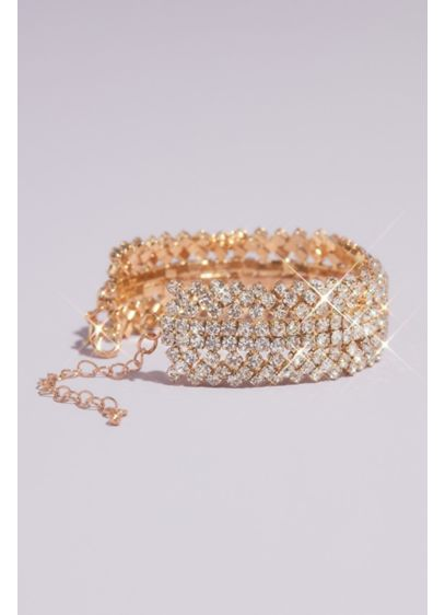 Gemstone Crystal Stack Cuff Bracelet - This versatile cuff will work with any special