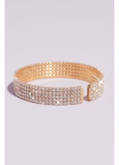 Natasha Grey (Five-Row Pave Rhinestone Cuff Bracelet)