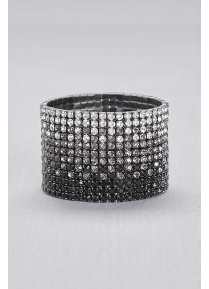Natasha Black (Ombre Crystal Stretch Bracelet)