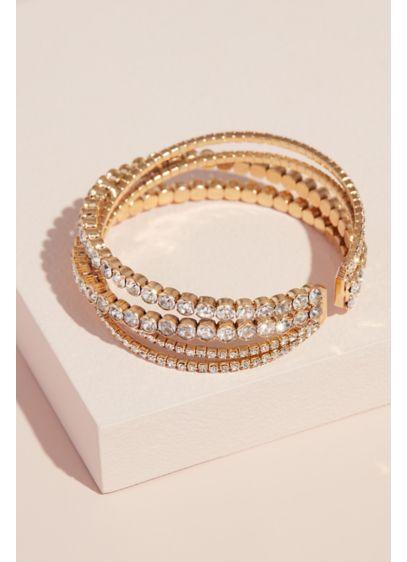 Natasha Grey (Multi Stack Crystal Cuff Bracelet)