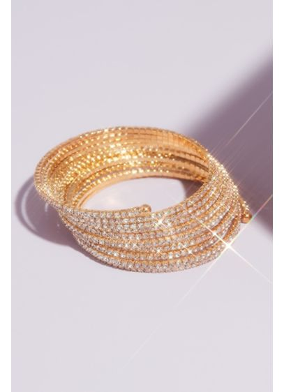 Natasha Grey (Pave Rhinestone Wraparound Bangle)