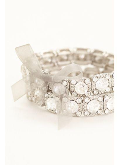 Set of 2 Crystal Bracelets - Wedding Accessories