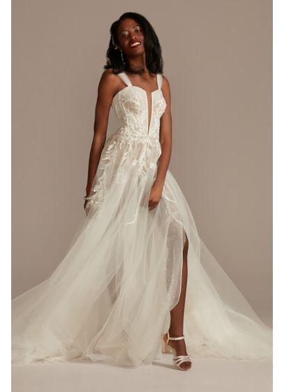 Long A-Line Glamorous Wedding Dress - Galina Signature