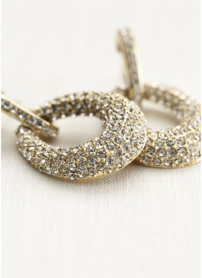 Pave Oval Drop Earrings - Wedding Accessories