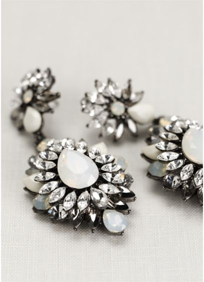 Opal Starburst Statement Earrings - Wedding Accessories