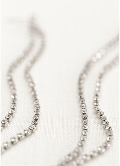 Long Crystal Shoulder Duster Earrings - Wedding Accessories