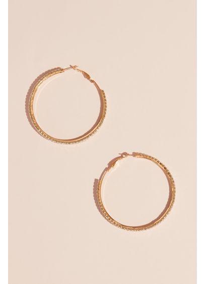 Allover Crystal Hoop Earrings - Wedding Accessories