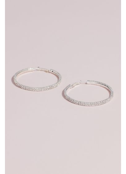 Allover Crystal Hoop Earrings - As versatile as they are beautiful, these allover