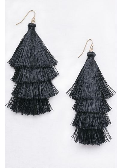 Tiered Thread Tassel Earrings - Wedding Gifts & Decorations