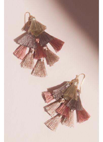 Multi Tassel Drop Earrings - Wedding Accessories
