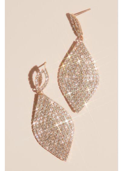 Natasha Grey (Pave Rhinestone Leaf Motif Earrings)