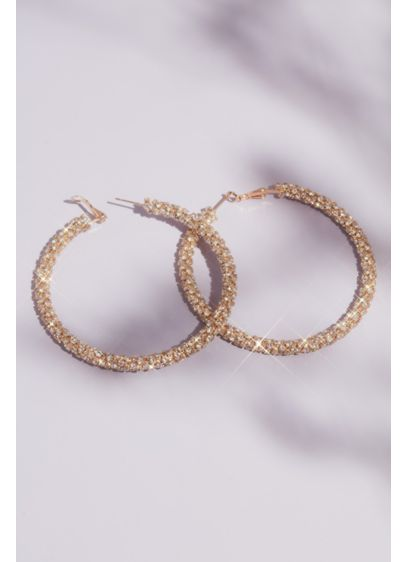 Natasha Grey (Sparkly Micro-Crystal Statement Hoop Earrings)