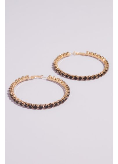 Casted Crystal Statement Hoops - Big and bold, these oversized statement hoops glitter