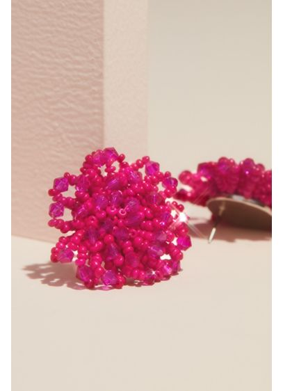 Natasha Green (Beaded Cluster Stud Earrings)