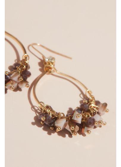 Shaky Beaded Hoop Earrings - Wedding Accessories