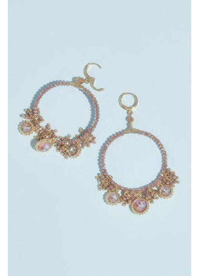 Large Shaky Beaded Hoop Earrings - Wedding Accessories