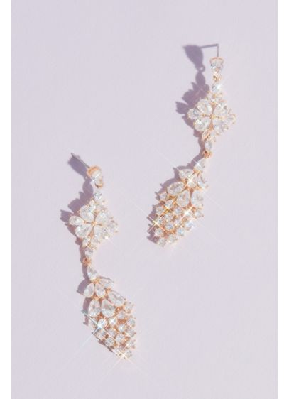 Geometric Clusters Crystal Drop Earrings - These sparkling statement earrings are sure to turn