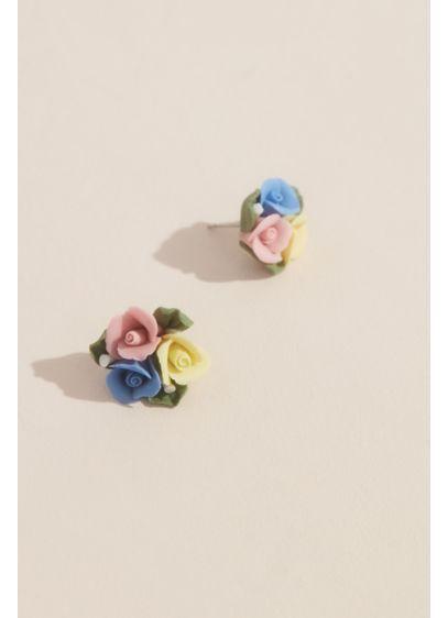 Rose Trio Stud Earrings - Wedding Accessories