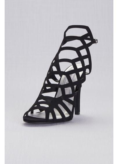 Touch Ups Grey (Shiny High Heel Cage Sandals)