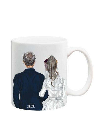 Father of the Bride Silhouette Mug - The sweetest mug commemorating the Bride's special day.