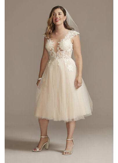 Midi A-Line Wedding Dress - Galina Signature