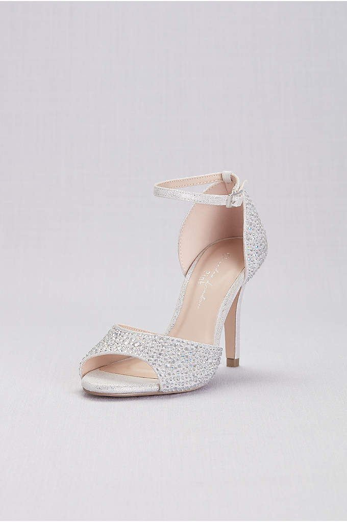 Iridescent Jewel D Orsay Pumps with Ankle Straps