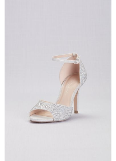 Iridescent Jewel D'Orsay Pumps with Ankle Straps - Wedding Accessories