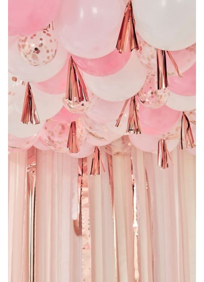 Confetti Balloon Ceiling Kit with Tassels - This balloon ceiling kit will take your party