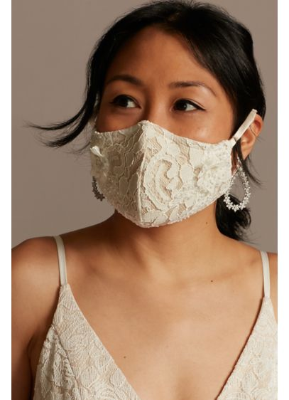 3D Floral Appliques Embroidered Fashion Face Mask - Make a fashion-forward statement while encouraging safe social