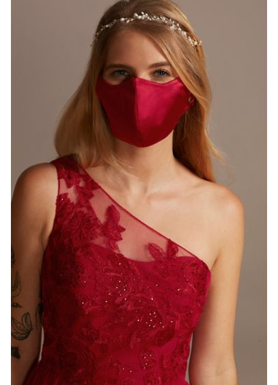 Satin Adjustable Loop Fashion Face Mask - Wedding Accessories