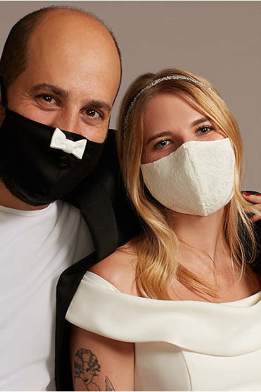 Bow Tie and Lace Fashion Face Mask Set