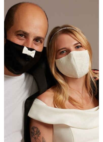 Bow Tie and Lace Fashion Face Mask Set - This his and hers set of fashion face