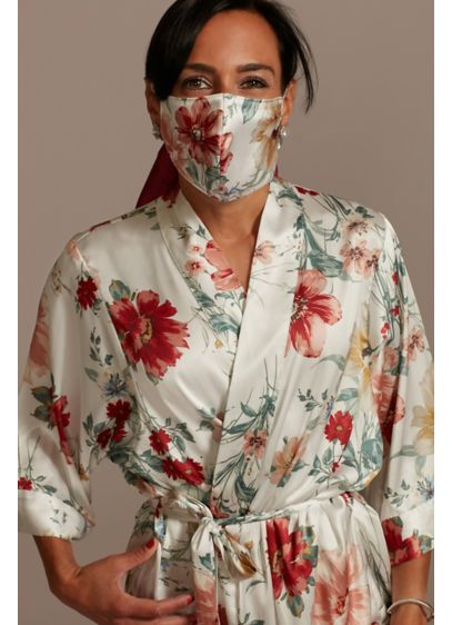 Grand Blooms Face Mask with Adjustable Ear Loops - Give your outfit a floral boost and promote
