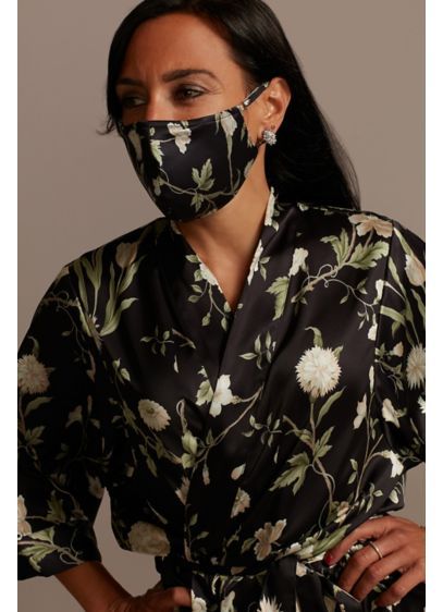 Meadow Flowers Mask with Adjustable Ear Loops - Promote safe social practices in this satin face