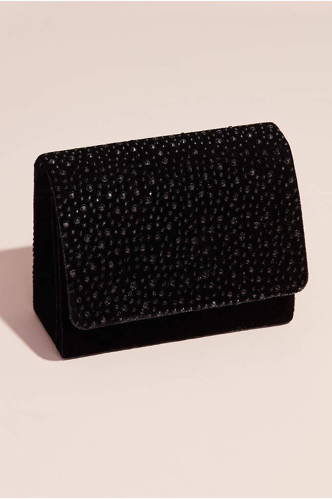 Nina Crystal Embellished Velvet Crossbody Bag