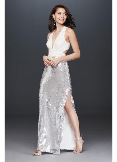 Long A-Line Glamorous Wedding Dress - Aidan Mattox