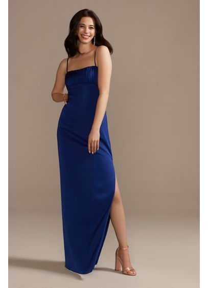 Long Sheath Spaghetti Strap Formal Dresses Dress - Aidan Mattox