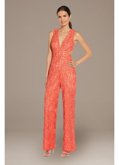 Lace Applique Sleeveless Jumpsuit with Open Back - You'll find any excuse to wear this showstopping