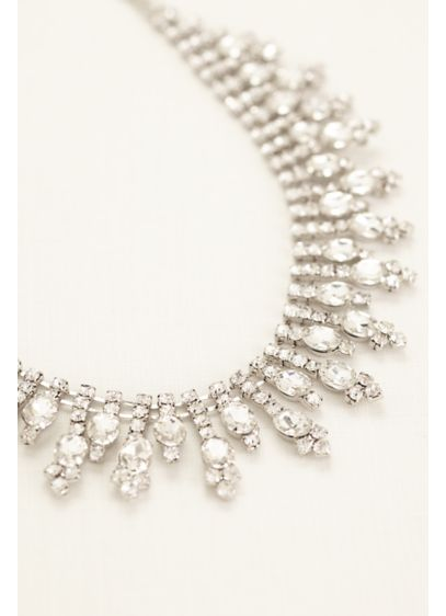 David's Bridal Grey (All Over Tear Drop Statement Necklace)
