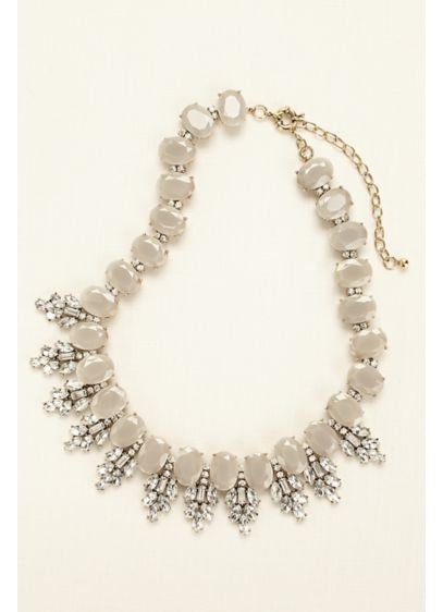 Gumdrop Stone Statement Necklace - Wedding Accessories