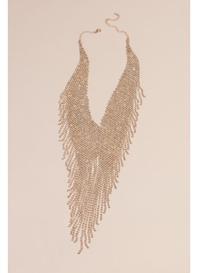 Fringed Crystal Statement Necklace - This grand crystal necklace is the perfect statement