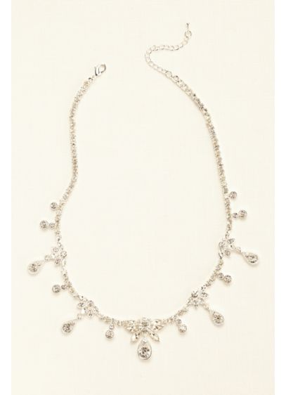 Crystal Dangle Drop Necklace - Wedding Accessories