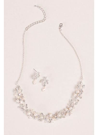 929b023c1 Cultured Pearl and Leaf Necklace and Earring Set - Wedding Accessories