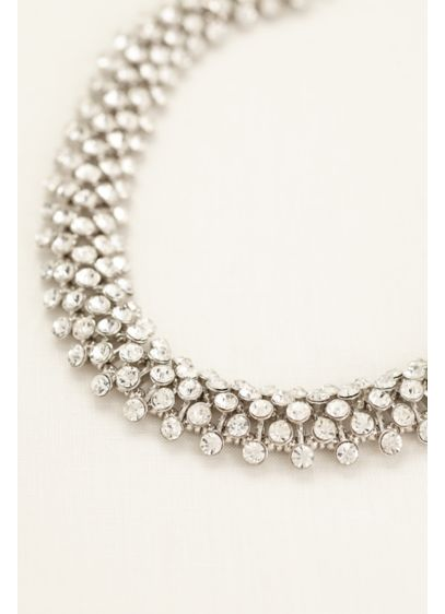 Interlocking Crystal Statement Necklace - Wedding Accessories