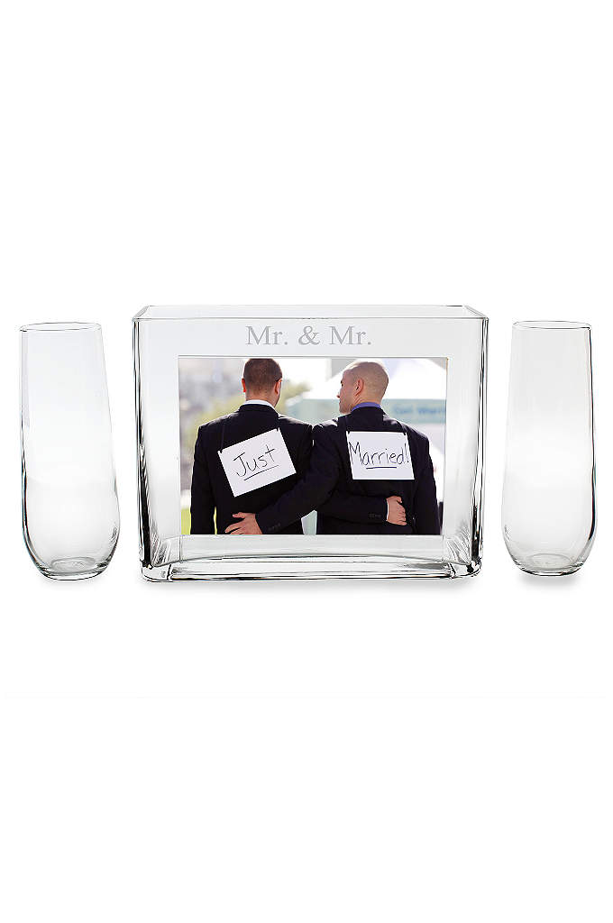 Mr. and Mr. Sand Ceremony Photo Vase Unity - One of the most popular wedding trends of