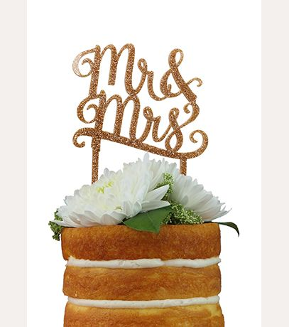 mr and mrs wedding cake topper db exclusive mr and mrs gold cake topper david s bridal 6061