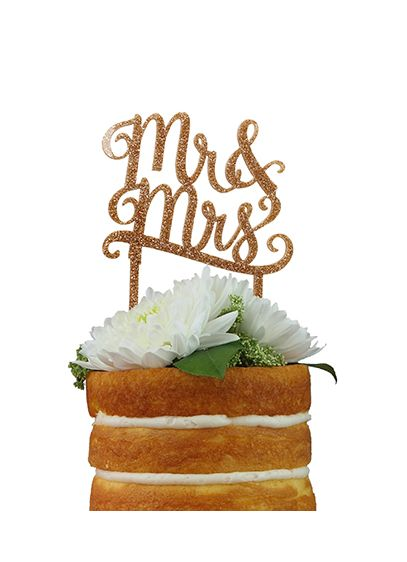 DB Exclusive Mr and Mrs Gold Cake Topper - Wedding Gifts & Decorations